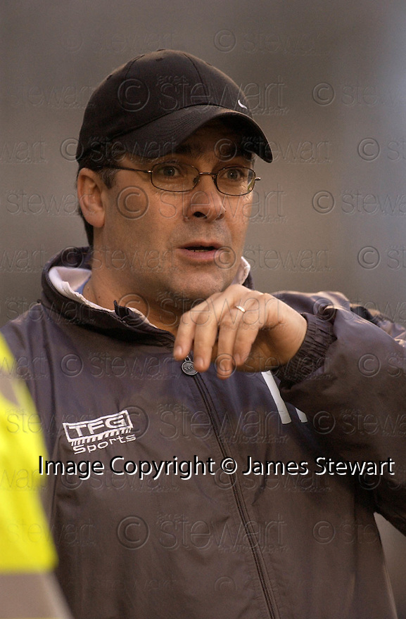 05/02/2005  Copyright Pic : James Stewart.File Name : jspa23_qots_v_dundee_utd.DUNDEE UTD MANAGER IAN MCCALL DURING THE SCOTTISH CUP 4TH ROUND CLASH AGAINST QUEEN OF THE SOUTH...Payments to :.James Stewart Photo Agency 19 Carronlea Drive, Falkirk. FK2 8DN      Vat Reg No. 607 6932 25.Office     : +44 (0)1324 570906     .Mobile   : +44 (0)7721 416997.Fax         : +44 (0)1324 570906.E-mail  :  jim@jspa.co.uk.If you require further information then contact Jim Stewart on any of the numbers above.........A