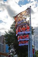 11-sept.-2013,Netherlands, Groningen,  Martini Plaza, Tennis, DavisCup Netherlands-Austria, Training,   Flaggs<br /> Photo: Henk Koster