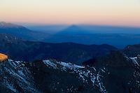 Matterhorn's earth shadow at sunrise