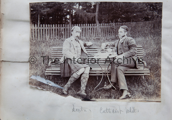 Victorian chief Sir Hector Monro sharing a glass or two with a friend
