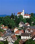 Deutschland, Bayern, Franken, Fraenkische Schweiz, Goessweinstein mit Burg   Germany, Bavaria, Franconia, Goessweinstein: with Castle
