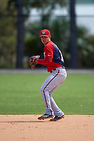 Washington Nationals Stephen Perez (13) during practice before a minor league Spring Training game against the Detroit Tigers on March 21, 2016 at Tigertown in Lakeland, Florida.  (Mike Janes/Four Seam Images)
