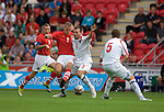 Wales's new cap Steve Morison during the International Friendly between Wales and Luxembourg at Parc y Scarlets in LLanelli..