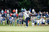 2nd July 2021; Mount Juliet Golf Club, Kilkenny, Ireland; Dubai Duty Free Irish Open Golf, Day Two; John Catlin of the USA takes his putt on the 10th green