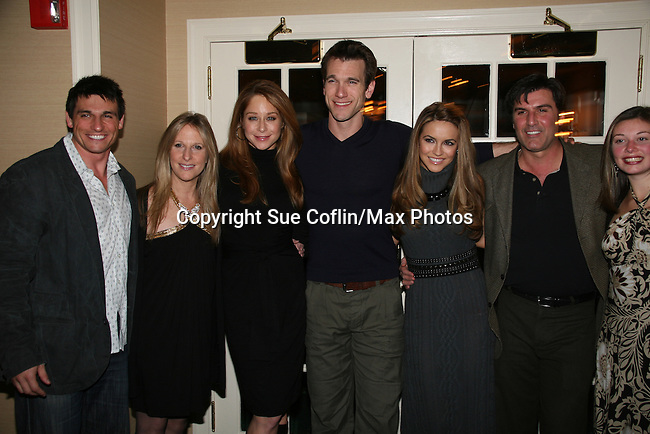 Host Billy Freda, Marcia Tovsky, Jamie Luner, Adam Mayfield, Chrishell Stause, Vincent Irizarry, Nicole at a benefit for American Lung Association on December 6, 2009 at Mezza on the Green at the Lawrence Country Club. (Photos by Sue Coflin/Max Photos)