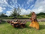 Sculpture Birth Of First Rapa Nui Baby