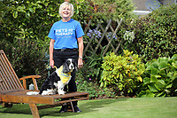 Dawn Chilcott with her dog Mivvi (CHECK SPELLING) in Langland, near Swansea, Wales.
