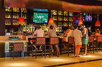 Las Vegas, Nevada.  Patrons at the Bar, Cromwell Hotel Casino.
