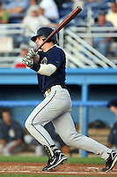 August 22 2008:  Jeremie Tice of the Mahoning Valley Scrappers, Class-A affiliate of the Cleveland Indians, during a game at Dwyer Stadium in Batavia, NY.  Photo by:  Mike Janes/Four Seam Images