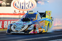 Sept. 2, 2011; Claremont, IN, USA: NHRA funny car driver Jim Head during qualifying for the US Nationals at Lucas Oil Raceway. Mandatory Credit: Mark J. Rebilas-