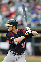 Sacramento River Cats outfielder Josh Reddick (26) at bat during the Pacific Coast League baseball game against the Round Rock Express on June 19, 2014 at the Dell Diamond in Round Rock, Texas. The Express defeated the River Cats 7-1. (Andrew Woolley/Four Seam Images)