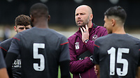 Brentford FC B Team Head Coach, Neil MacFarlane speaks to his players ahead of kick-off during Bromley vs Brentford B, Friendly Match Football at Hayes Lane on 3rd October 2020