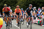 Sonny Colbrelli (ITA) Bahrain McLaren, Matteo Trentin (ITA) CCC Team and Michal Kwiatkowski (POL) Ineos Grenadiers climb Col de Marie Blanque during Stage 9 of Tour de France 2020, running 153km from Pau to Laruns, France. 6th September 2020. <br /> Picture: Colin Flockton   Cyclefile<br /> All photos usage must carry mandatory copyright credit (© Cyclefile   Colin Flockton)