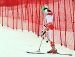 Braydon Luscombe, Sochi 2014 - Para Alpine Skiing // Para-ski alpin.<br /> Braydon Luscombe competes in the men's Super G, standing event // Braydon Luscombe participe au Super G masculin, épreuve debout. 09/03/2014.