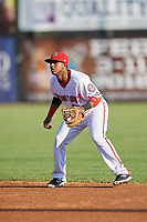 Harrisburg Senators second baseman Khayyan Norfork (15) during a game against the Bowie Baysox on May 16, 2017 at FNB Field in Harrisburg, Pennsylvania.  Bowie defeated Harrisburg 6-4.  (Mike Janes/Four Seam Images)