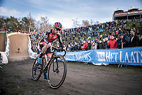 Eli Iserbyt (BEL/Pauwels Sauzen-Bingoal)<br /> <br /> <br /> CX Superprestige Zonhoven (BEL) 2019<br /> Elite & U23 mens race