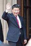 © Joel Goodman - 07973 332324 . 23/10/2015 . Manchester , UK . Chinese president , XI JINPING , visits Manchester as part of his state visit to the United Kingdom . Photo credit : Joel Goodman