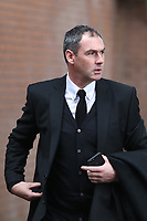 Swansea City manager Paul Clement arrives at Turf Moor prior to the Premier League match between Burnley and Swansea City at Turf Moor, Burnley, England, UK. Saturday 18 November 2017