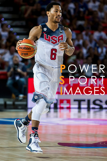 Derrick Rose of United States of America during FIBA Basketball World Cup 2014 group C between United States of America vs New Zeland  on September 02, 2014 at the Bilbao Arena stadium in Bilbao, Spain. Photo by Nacho Cubero / Power Sport Images