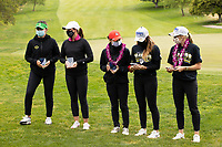 STANFORD, CA - APRIL 25: Briana Chacon, Linn Grant, YuSang Hou, Malia Nam, Amelia Garvey at Stanford Golf Course on April 25, 2021 in Stanford, California.