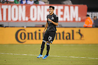 EAST RUTHERFORD, NJ - SEPTEMBER 7: Uriel Antuna #26 of Mexico during the game during a game between Mexico and USMNT at MetLife Stadium on September 6, 2019 in East Rutherford, New Jersey.
