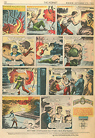 BNPS.co.uk (01202 558833)<br /> Pic: Spink & Son/BNPS<br /> <br /> Pictured: The brothers story featured in the 'The Hornet' comic in 1969. <br /> <br /> The remarkable story of a foundryman who risked electrocution and being crushed to save injured co-workers after a factory explosion can be revealed after his bravery medal emerged for sale for £18,000.<br /> <br /> John Farr sprung into action when the High Duty Alloys Factory in Slough, Berks, was destroyed in the disaster on July 13, 1940.<br /> <br /> Alongside his brother Douglas, he pulled wounded colleagues to safety before returning to the debris to 'clear' two large furnaces each containing 1,000lbs of molten aluminium. This was done in complete darkness despite the danger of the roof collapsing at any moment and possible electrocution from loose cables.<br /> <br /> Their efforts meant that the factory was able to return to producing World War Two aircraft parts far sooner at a pivotal moment in the Battle of Britain.<br /> <br /> Mr Farr's heroism was later immortalised on the front cover of a 'boy's own' comic and his George Cross is now being sold with auctioneers Spink & Son, of London.