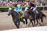 HALLANDALE BEACH, FL - MARCH 04: Bird Song with Julien Leparoux up wins the Fred W Hooper Stakes (G3) Gulfstream Park. (Photo by Arron Haggart/Eclipse Sportswire/Getty Images)