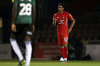 Louis Dennis of Leyton Orient scores the first goal for his team and celebrates during Leyton Orient vs Plymouth Argyle, Caraboa Cup Football at The Breyer Group Stadium on 15th September 2020