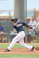 Carlos Sosa (72) of the AZL Padres bats during a game against the AZL Rangers at the San Diego Padres Spring Training Complex on July 4, 2015 in Peoria, Arizona. Padres defeated the Rangers, 9-2. (Larry Goren/Four Seam Images)