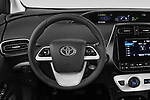 Car pictures of steering wheel view of a 2019 Toyota Prius-Plug-in-Hybride Comfort 5 Door Hatchback Steering Wheel