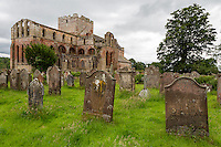 Lanercost Priory, Cumbria, England, UK.  Cemetery, Anglican Church of Mary Magdalene, 13th. Century.