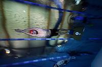 The first Norwegian freediving championship, held in Askinm, Norway..Eivind Kristoffersen swimming DYN 109 meters..© Fredrik Naumann/Felix Features