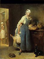Chardin 1699-1779.  La pourvoyeuse, 1739.  Louvre.  Reference only