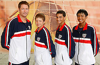 Tenis, World Championship U-14.Official team photo.USA boys team, from left, team captain Mike Sell, Stefan Kozlov, Noah Rubin and Jordan Belga.Prostejov, 03.08.2010..foto: Srdjan Stevanovic/Starsportphoto ©