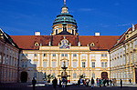 Austria, Lower Austria, Wachau, Melk, Prelate's Courtyard of monastery Melk, Benedictine monastery since 1089, founded by margrave Leopold II.