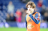 Alberto Paloschi of Swansea City during the warm up before the Barclays Premier League match between West Bromwich Albion and Swansea City at The Hawthorns on the 2nd of February 2016