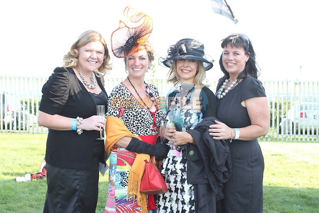 Suzanne Collins, Ruth Kelly, Louise Boylan and Patricia Keenan at the Bellewstown Races...Picture Jenny Matthews/Newsfile.ie