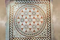 Roman geometric floor mosaic  from the Villa of Castel di Guido, Rome. 1st century AD. National Roman Museum, Rome, Italy