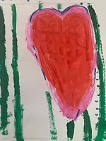 """Heart"" Painting by Anders Jones, Grade 1, Yarmouth, ME, USA"