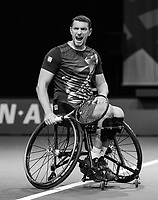 Rotterdam, The Netherlands, 6 march  2021, ABNAMRO World Tennis Tournament, Ahoy,  Semi final wheelchair: Joachim Gerard(BEL) vs. Alfie Hewett (GBR).<br /> Photo: www.tennisimages.com/