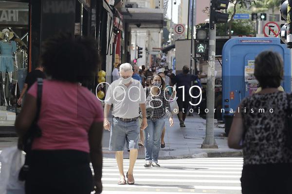 Campinas (SP), 09/02/2021 - Plano Sao Paulo-SP - Movimentacao no centro de Campinas, interior de Sao Paulo, nesta terca-feira (9). A cidade esta na fase amarela do Plano Sao Paulo. (Foto: Denny Cesare/Codigo 19/Codigo 19)