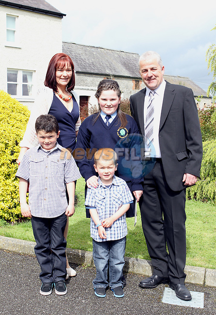 Rebecca Collins with her family at the Confirmation in Duleek Church...(Photo Jenny Matthews/www.newsfile.ie)