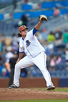 Durham Bulls relief pitcher Ian Gibaut (33) in action against the Buffalo Bison at Durham Bulls Athletic Park on April 25, 2018 in Allentown, Pennsylvania.  The Bison defeated the Bulls 5-2.  (Brian Westerholt/Four Seam Images)
