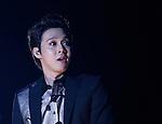 JYJ, Aug 09, 2014 : Yuchun, Aug 9, 2014 : Yuchun of South Korean boy band JYJ performs during their 2014 Asia Tour 'The Return of The King' Concert at Jamsil stadium in Seoul, South Korea.  (Photo by Lee Jae-Won/AFLO) (SOUTH KOREA)