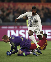 Football, Serie A: AS Roma - InterMilan, Olympic stadium, Rome, December 02, 2018. <br /> Inter's Keita Balde Diao celebrates after scoring during the Italian Serie A football match between Roma and Inter at Rome's Olympic stadium, on December 02, 2018.<br /> UPDATE IMAGES PRESS/Isabella Bonotto