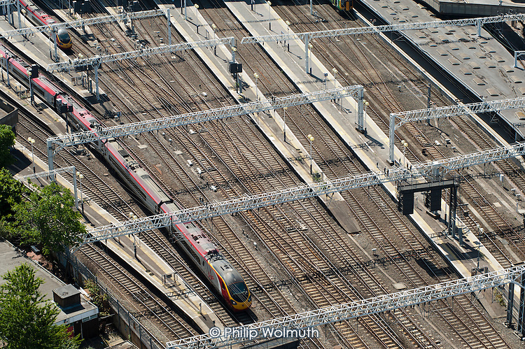 Railway lines at Euston station, proposed site for the London terminal of the HS2 high speed train line.