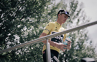 Chris Froome (GBR/SKY) at the stage start<br /> <br /> 104th Tour de France 2017<br /> Stage 19 - Embrun › Salon-de-Provence (220km)