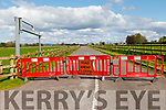 The entrance to Ballyseedy Woods closed to the public on Monday.