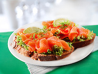 Smoked Salmon & salad Sandwich