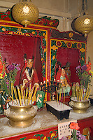 Buddha temple in Kowloon with candles and alter for worship religion prayer reques